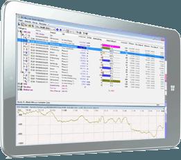 Tablet-PC mit Software S0-Recorder und Modbus-Drehstromzähler