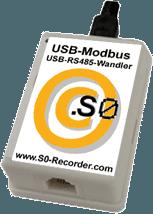 Modbus-USB-Adapter für den S0-Recorder zum Auslesen von Stromzählern