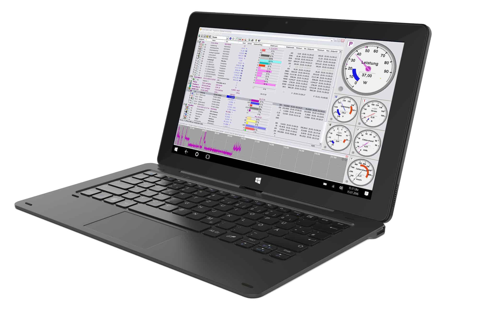 Tablet-PC Messwerterfassung mit dem S0-Recorder