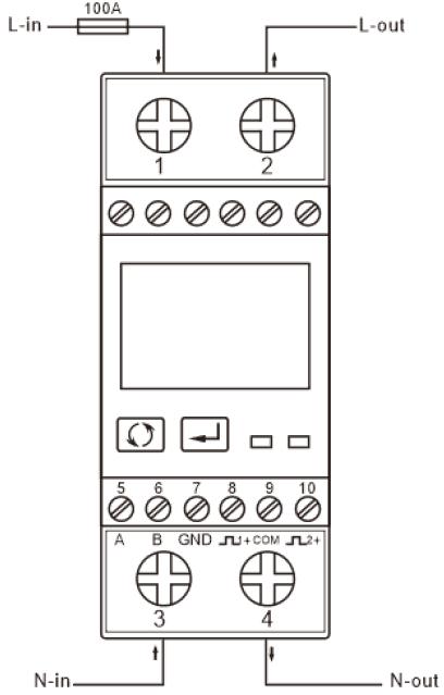 Wechselstromzähler SDM230 mit Modbus-Schnittstelle am S0-Recorder