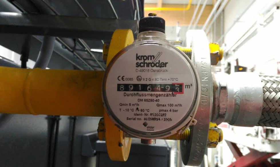 Gasverbrauch aufzeichnen: Industrie-Gaszähler mit Impulsgeber zum Anschluss an S0-Recorder
