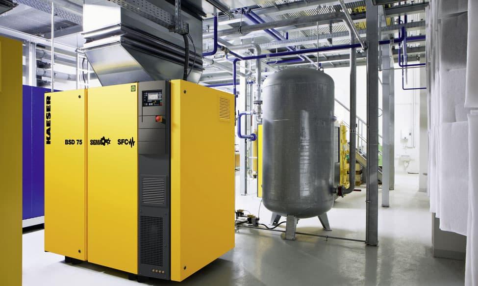 Stromverbrauch von Industrie-Kompressoren mit dem S0-Recorder messen und aufzeichnen