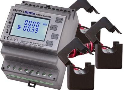Drehstrom-Wandlerzähler SDM630CT mit Modbus-Schnittstelle am S0-Recorder