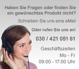Bei Fragen zu unseren Produkten: +49 30 421 051 61
