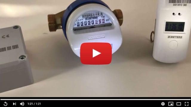 wireless-M-Bus-Recorder mit Wasserzähler, S0-Impulsadapter und USB-Funkempfänger